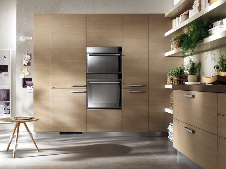 Feel by #Scavolini | Cupboards and tall units with appliances can furnish a whole wall and offer an exclusive, stylish interface with the rest of the home |
