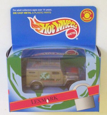 Armored-Truck-Lexmark-REAL-RIDERS-Hot-Wheels-LE-n-Box