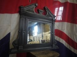 Victorian Cast Iron Over Mantle Mirror made by the famous Biclam Foundry beautiful piece  UK & Worldwide delivery available