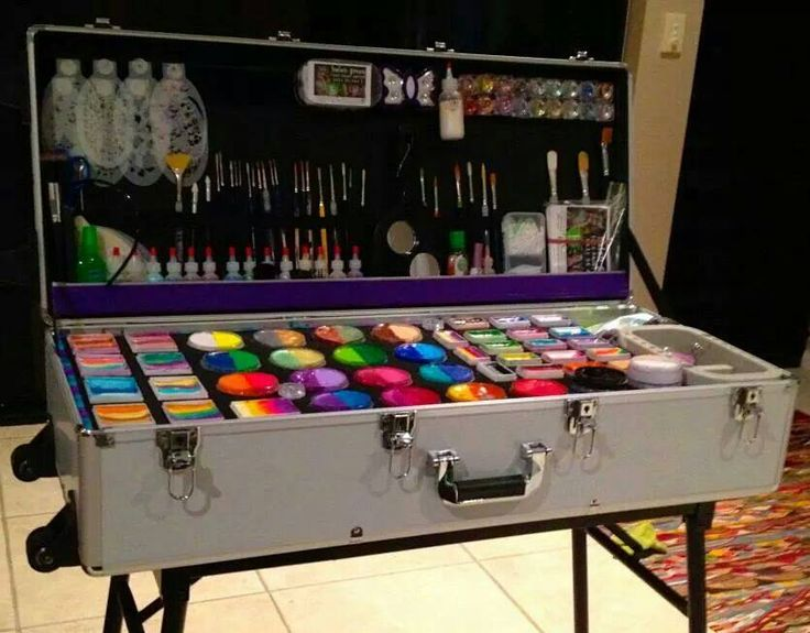 How to build the perfect face paint case - follow this link for easy step by step instructions