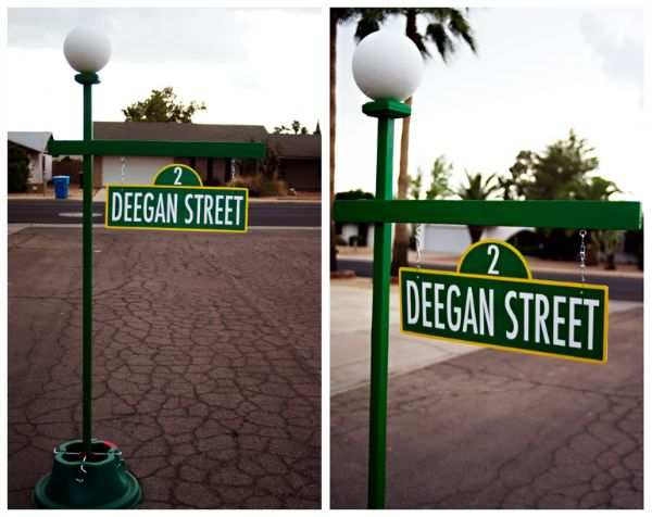 Sesame Street Street Sign Party Ideas Pinterest