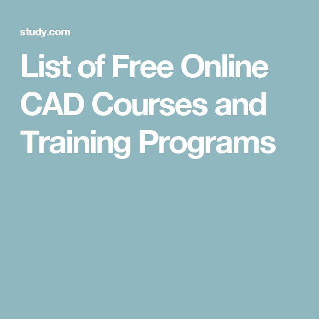 List of Free Online CAD Courses and Training Programs
