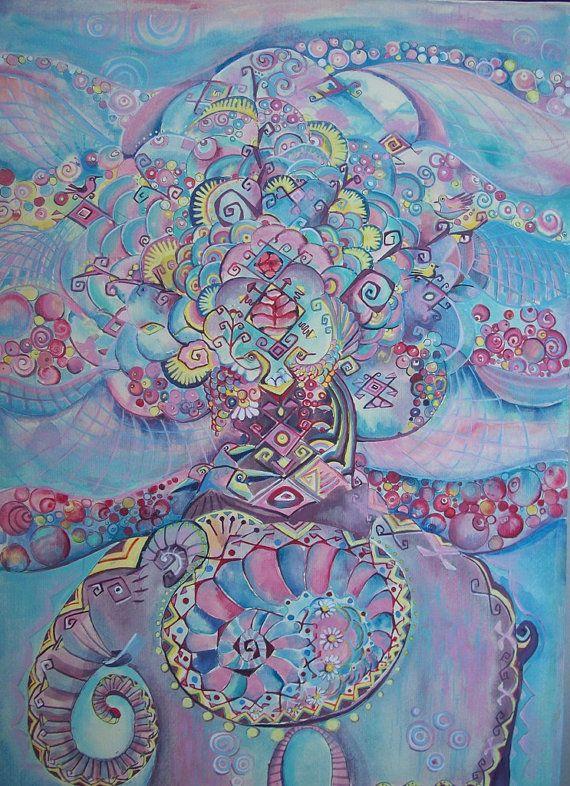 Albero dell'abbondanza albero dipinto decorativo  di Stellangelo