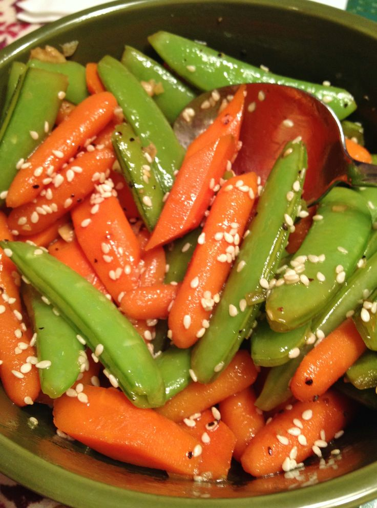 how to cook snap peas and carrots