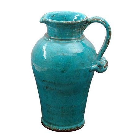 Vazolar - Kulplu Sürahi/Vazo Mavi
