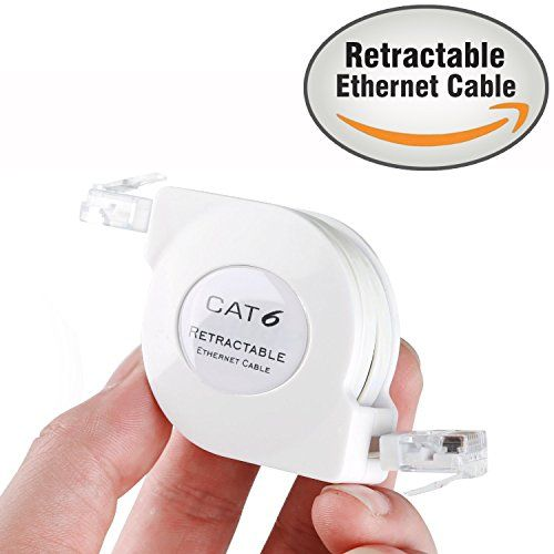 From 9.99 1.5m Flat Cat6 Retractable Ethernet Network Cable With Snagless Rj45 Connectors (1.5m Retractable White)