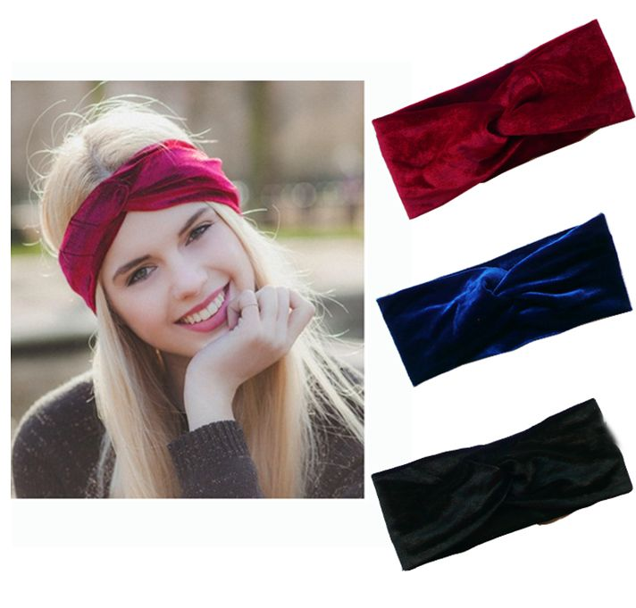 Velvet Twist Headband Women Earmuffs Earwarmers Noble Scrunchy Twist Hair Band Turban Headband Bandana Bandage On Head For Women