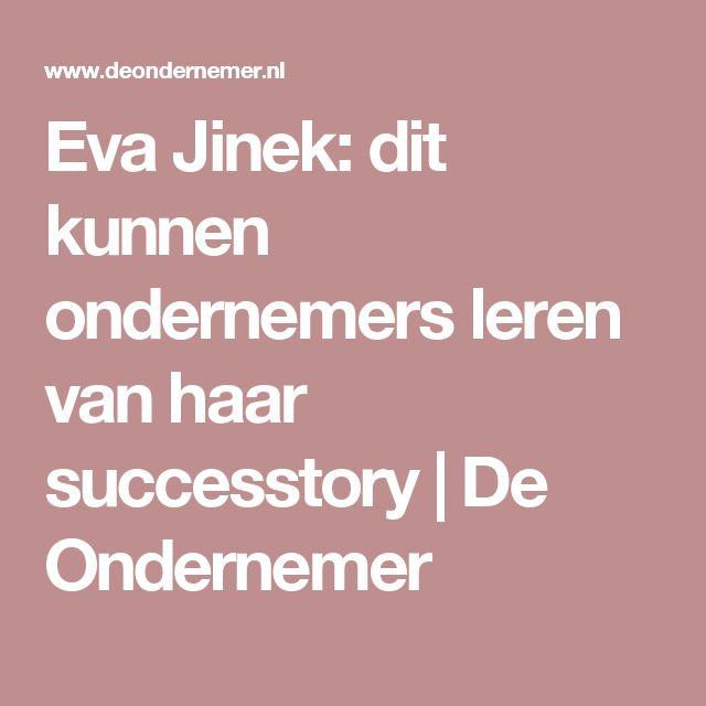 Eva Jinek: dit kunnen ondernemers leren van haar successtory | De Ondernemer