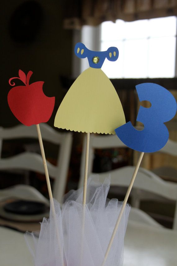Snow White Cake Toppers or Centerpiece Sticks 3 by EmelleeGifts, $4.00