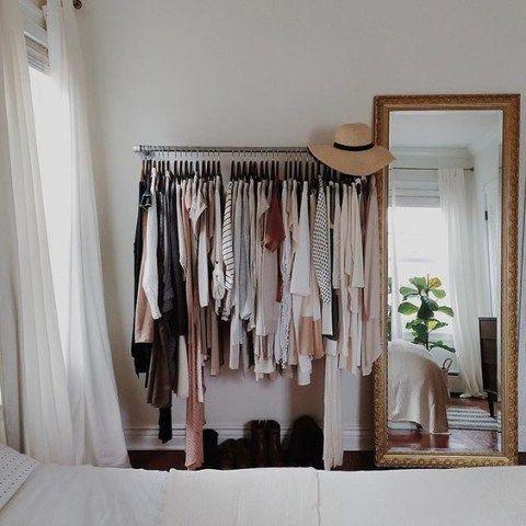 Guarda roupas minimalista que eu pretendo fazer no meu quarto