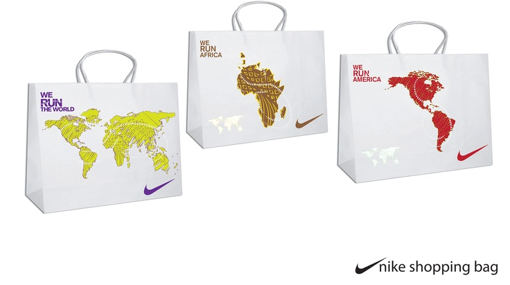 Nike (run the world) Shoping Bags
