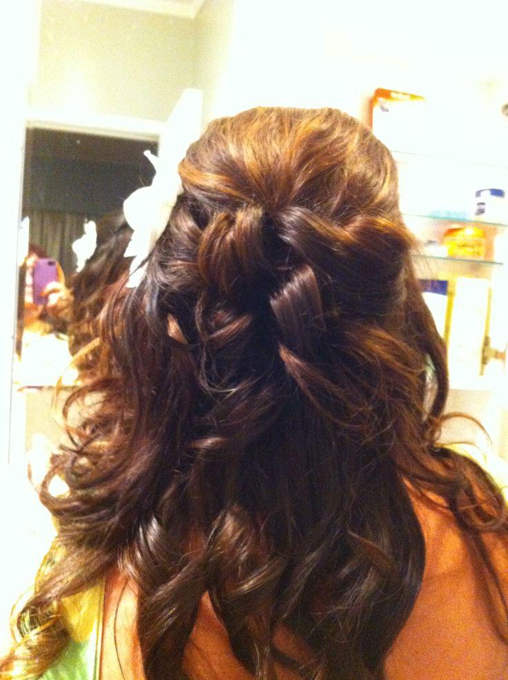 half hair up petals.