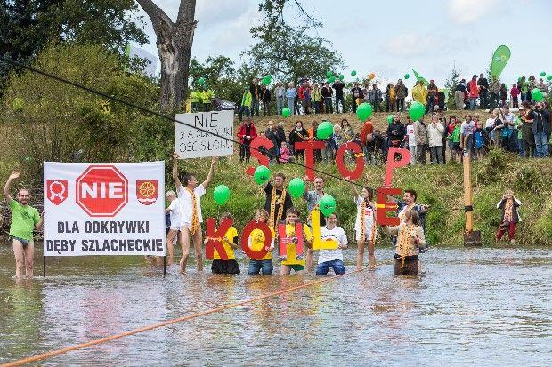 Łańcuch Ludzi przeciwko kopalni odkrywkowej w gminach Gubin/Brody.