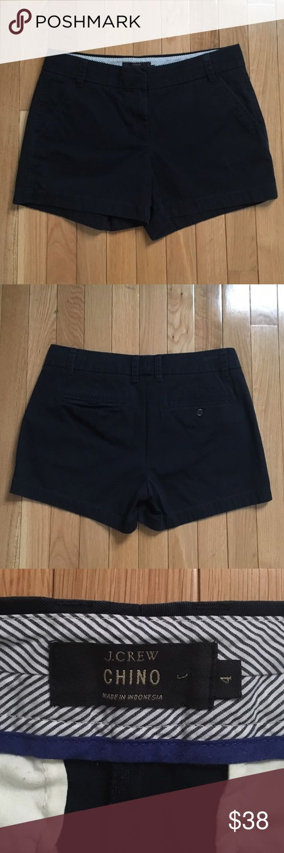 "JCrew 4"" Chino Shorts in Navy Worn but in great condition. Great versatile navy blue color. Sorry no trades, only looking to sell. J. Crew Shorts"
