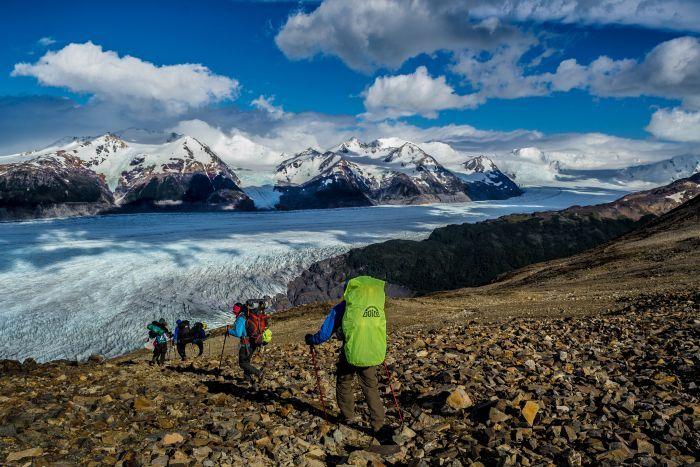 """paso John Gardner , circuito """"O"""" , torres del paine , campo de hielo sur , glaciar Grey , Patagonia , Chile"""