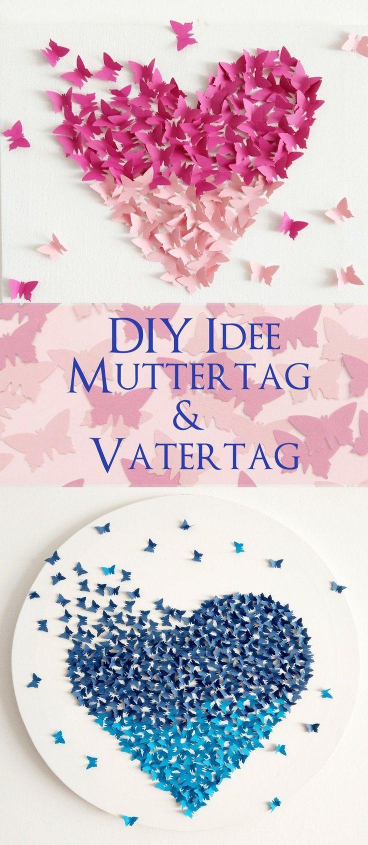 Bilder zum Muttertag und Vatertag basteln – 3 DIY-Ideen mit Anleitung zum selber machen
