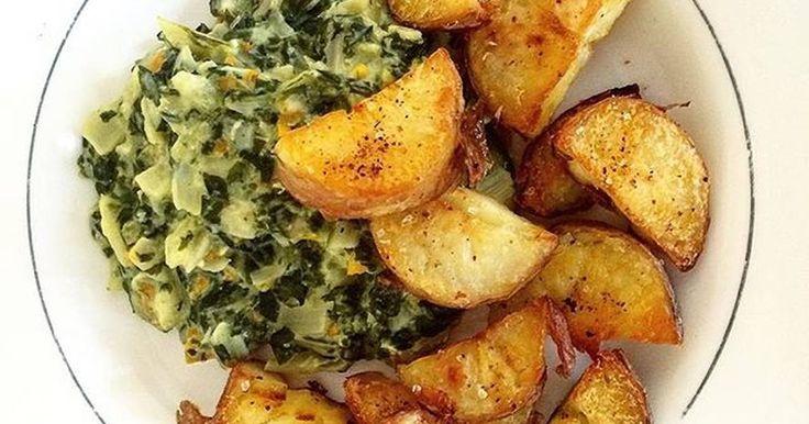 Fabulosa receta para Guiso de acelgas con papas al horno. Este plato es uno de mis preferidos, desde chica! Un plato vegetariano, exquisito!