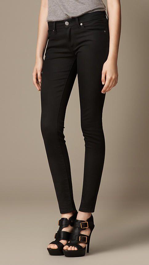 Noir Jean skinny taille basse noir intense - Image 1