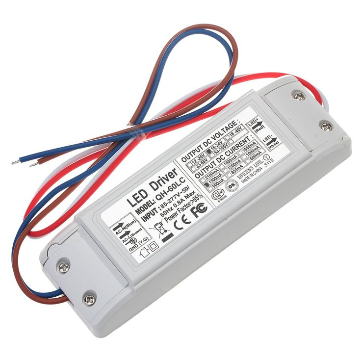 Chanzon LED Driver 1500mA (Constant Current Output) 18V-34V (Input 85-277V AC-DC) (6-10)x5 30W 35W 40W 45W 50W Power Supply 1500 mA Lighting Transformer for High Power 50 W COB Chips (Plastic Case)