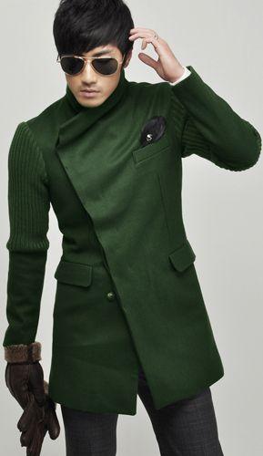 Asymmetrical green coat #Fall Menswear style inspiration || #menswear #mensfashion #mensstyle #style #sprezzatura #sprezza #mentrend #menwithstyle #gentlemen #bespoke #mnswr #sartorial #mens #coat #coats