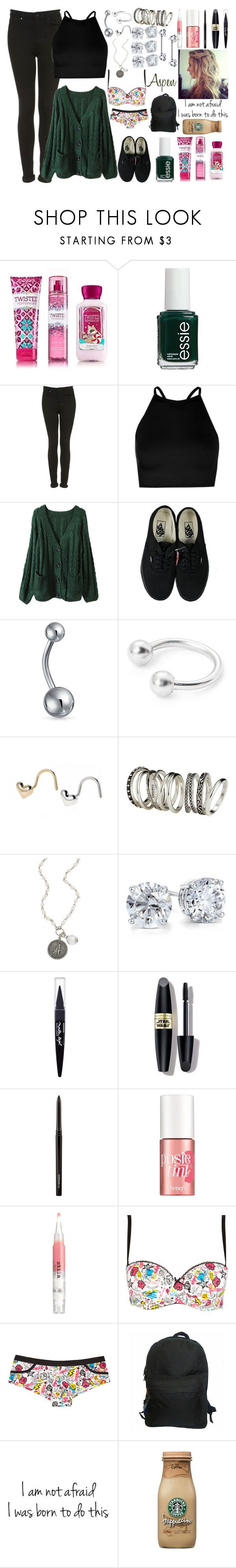 """""""X"""" by ohgoditsyou-k ❤ liked on Polyvore featuring Topshop, Boohoo, Vans, Bling Jewelry, H&M, John Wind, Blue Nile, Maybelline, Max Factor and MAC Cosmetics"""