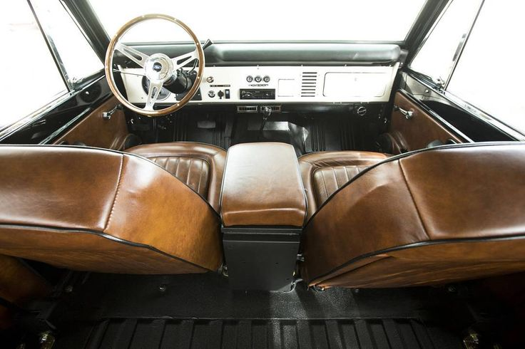 '76 Classic Ford Bronco interior from Velocity Restorations. #velocityrestorations