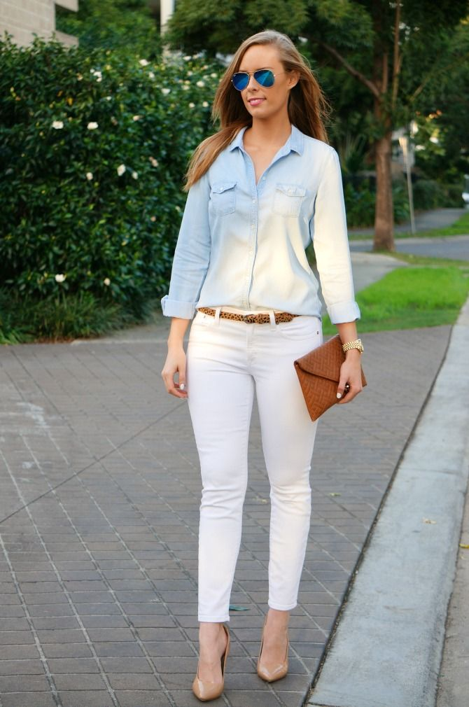161 best images about White Jeans Outfits on Pinterest   White ...