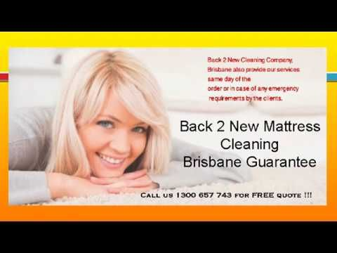 Back 2 New Cleaning Company Brisbane offers a vast range of services which have been especially customized for you at a very affordable and cheapest price. It includes mattress steam cleaning, mattress dry cleaning, mattress hygienic cleaning etc.