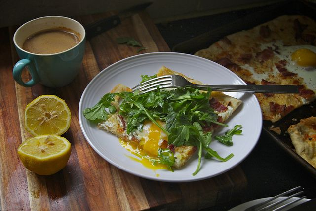 Brunch:  breakfast pizzas by shutterbean