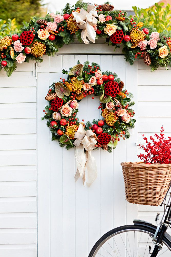 Katie Spicer Photography Interflora Christmas Wreath Shed and Bike. & 20 best Christmas Wreaths images on Pinterest | Christmas flowers ...