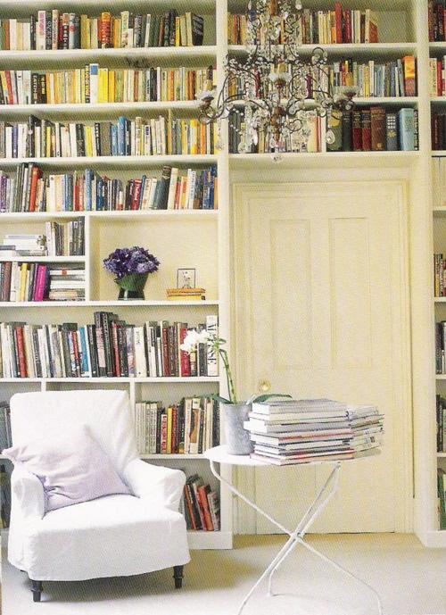 bookshelves around the door