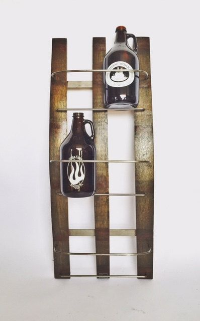 This great piece holds and displays 6 of your favorite Beer Growlers. (You may need to order 2 if you have a serious growler condition like I do).