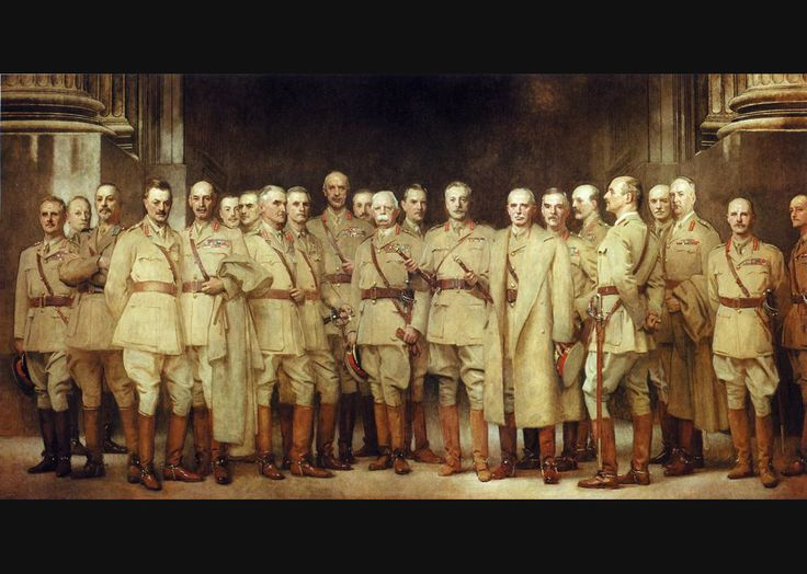John Singer Sargent's 'General Officers of the Great War'. Arguably my favourite painting in the National Portrait Gallery. General Louis Botha is my favourite sitter (see, 3rd from left).