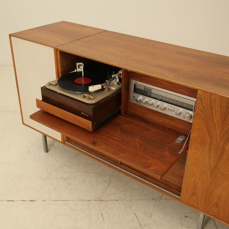 Used to have a similar one of these... got ruined in the flood... must replace! 1960s George Nelson Thin Line Stereo Cabinet