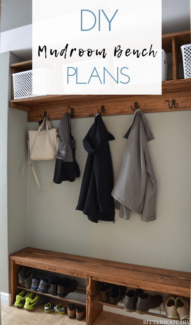 Easy Mudroom Bench With Shoe Storage Rangement Chaussures Rangement Entree Diy Meuble