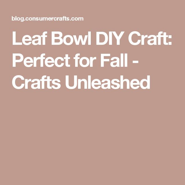 Leaf Bowl DIY Craft: Perfect for Fall - Crafts Unleashed