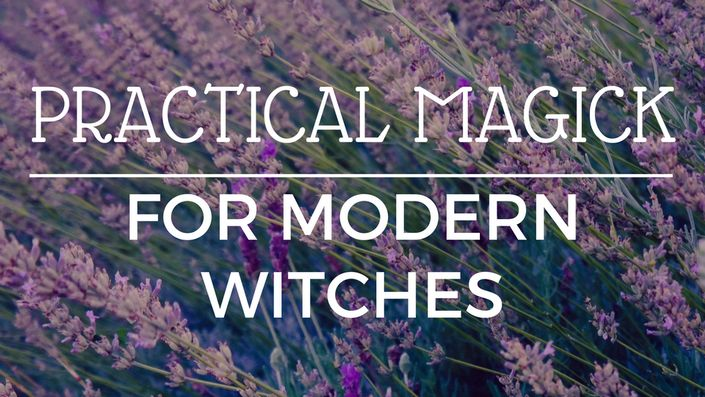 Take an online course all about Practical Magick for Modern Witches from the Lavender + Lupine School of Magick!