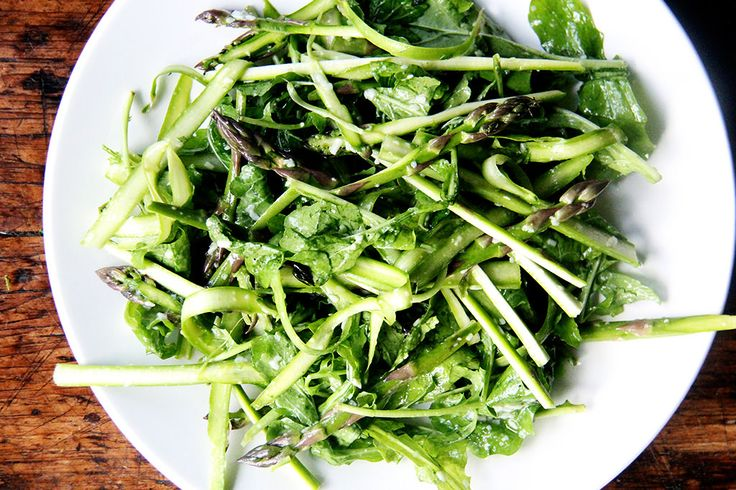 Shaved Asparagus and Arugula Salad with Pecorino