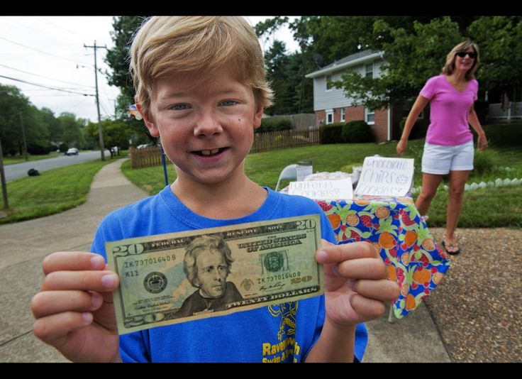 When 8-year-old Johnny Karlinchak saw his neighbor's house crushed by a 60-foot-oak, he ran to his piggy bank and emptied its contents into his neighbor's hands. Unfortunately, the $1.25 would not cover Elissa Myers' $500 deductible so Johnny took to what he knew best -- selling lemonade -- to cover the deficit.     (Image via Getty)