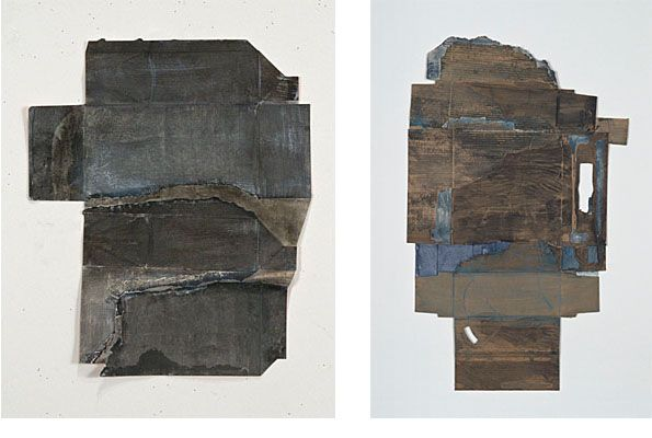 """Ruth Hardinger: Container #13; 2009.  19x16"""".  Container #29; 2009.  36x22"""""""