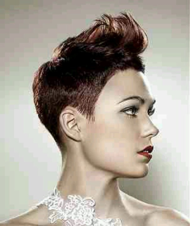 Quiff hairstyle for women Short Hair Pinterest