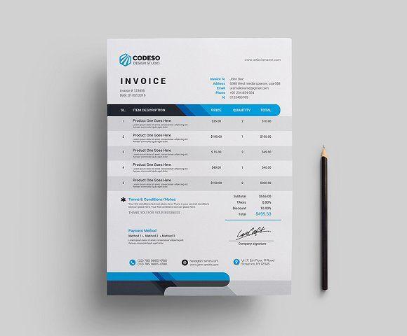 Invoice by Generous Art_2 on @creativemarket
