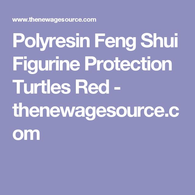 Polyresin Feng Shui Figurine Protection Turtles Red - thenewagesource.com