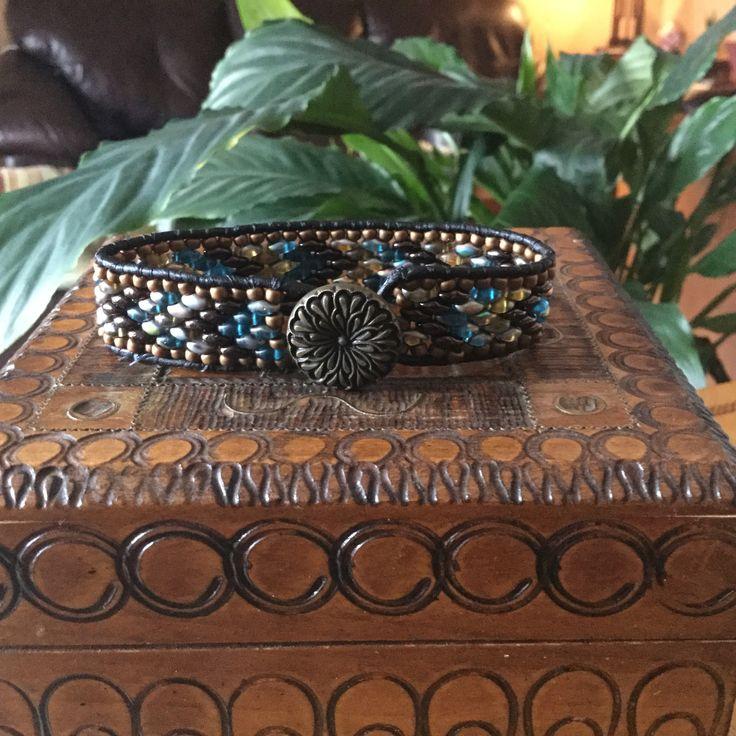 Dragon Tears.  Beautiful Superduo bracelet