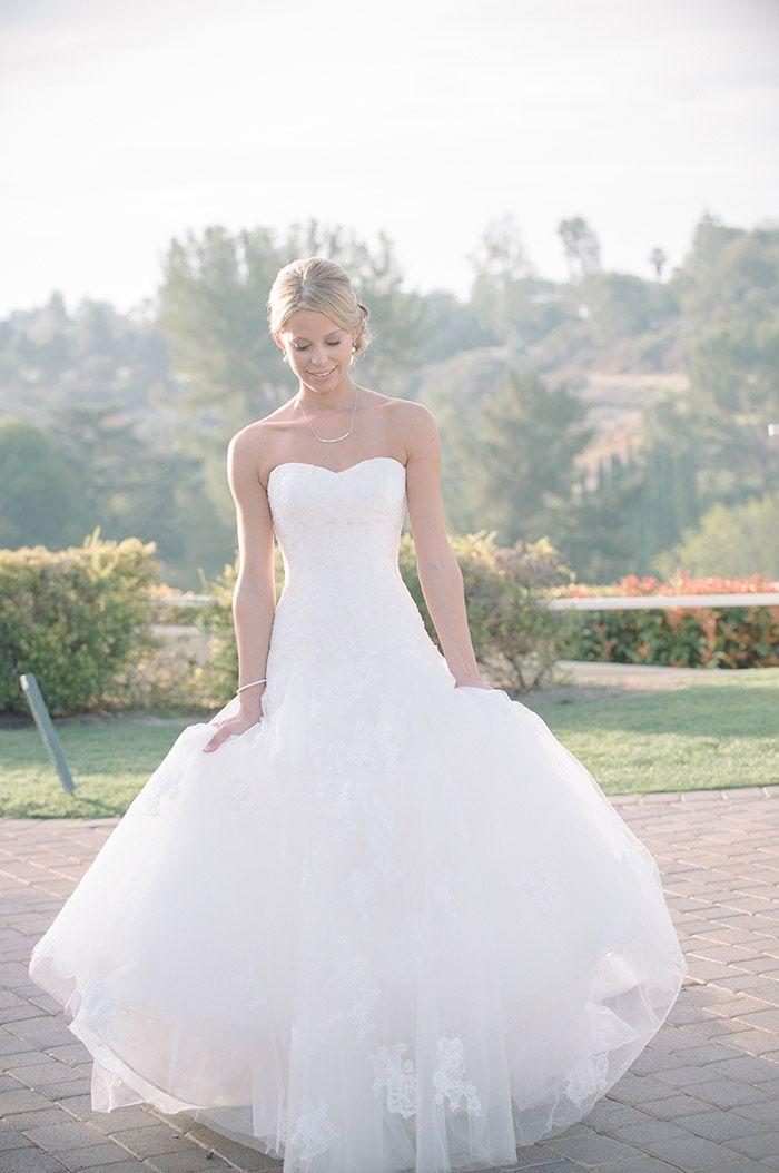 Beautifully classic wedding dress