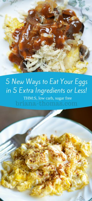 5 New Ways to Eat Your Eggs in 5 Extra Ingredients or Less...THM:S, low carb, sugar free