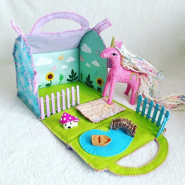 Finally I have another hand sewn Unicorn Garden Playset in the shop!