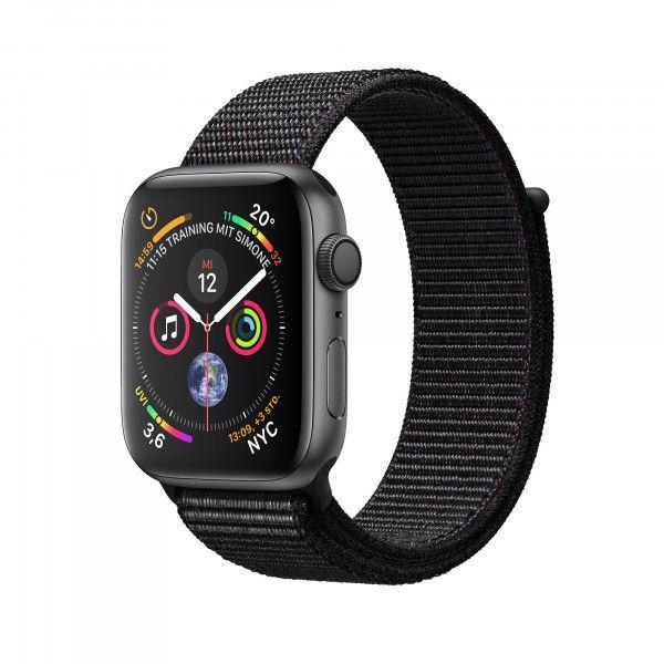 Apple Watch Series 4 Gps Aluminium 40 Mm Spacegrau Sport Loop Schwarz Apfeluhr Smartwatch Sport Armband
