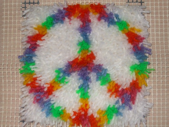 Peace Sign Latch Hook Hippie Home Bedroom by BellaBreysNature   6 99. 53 best Peace signs images on Pinterest
