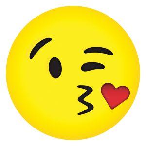 Picture of Kissy Emoji Microbead Pillow